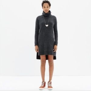 Madewell Merino Wool gray Turtleneck Dress